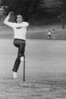 Allan Way bowling in 1986