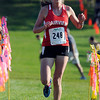 """Fairview High School's Isabelle Kennedy crosses the finish line in first-place during the Pat Patten cross country invitational on Friday, Sept. 28, at Harlow Platts Community Park in Boulder. For more photos of the event go to  <a href=""""http://www.dailycamera.com"""">http://www.dailycamera.com</a><br /> Jeremy Papasso/ Camera"""