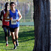 "Broomfield High School's Ethan Gonzales, front, leads Ashi Geberkidane in the varsity boys race during the Pat Patten cross country invitational on Friday, Sept. 28, at Harlow Platts Community Park in Boulder. For more photos of the event go to  <a href=""http://www.dailycamera.com"">http://www.dailycamera.com</a><br /> Jeremy Papasso/ Camera"