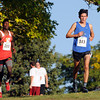 "Broomfield High School's Ethan Gonzales, right, and Denver East High School's Ashi Geberkidane lead the varsity boys race during the Pat Patten cross country invitational on Friday, Sept. 28, at Harlow Platts Community Park in Boulder. Gonzales place first and Geberkidane second. For more photos of the event go to  <a href=""http://www.dailycamera.com"">http://www.dailycamera.com</a><br /> Jeremy Papasso/ Camera"