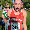 """Fairview High School junior Isabelle Kennedy pours water over her head to cool off after winning the varsity girls race during the Pat Patten cross country invitational on Friday, Sept. 28, at Harlow Platts Community Park in Boulder. For more photos of the event go to  <a href=""""http://www.dailycamera.com"""">http://www.dailycamera.com</a><br /> Jeremy Papasso/ Camera"""