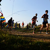 """Boulder High School's Ethan Gonzales, right, and Denver East High School's Ashi Geberkidane lead the pack during the Pat Patten cross country invitational on Friday, Sept. 28, at Harlow Platts Community Park in Boulder. For more photos of the event go to  <a href=""""http://www.dailycamera.com"""">http://www.dailycamera.com</a><br /> Jeremy Papasso/ Camera"""