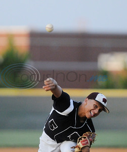 Whitehouse High School baseball team player Patrick Mahomes pitches in 2012.  (photo by Herb Nygren/Tyler Morning Telegraph)