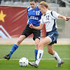P2PTCA<br /> Peak to Peak's Katie McMenamin fights for the ball against CheyAnne Queener of The Classical Academy.<br /> May 24, 1011