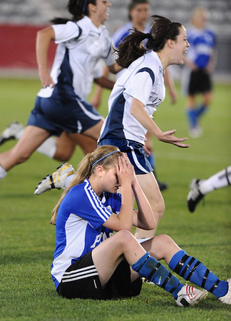 P2PTCA<br /> Peak to Peak's Belle Morel reacts after the team lost 1-0 to The Classical Academy.<br /> May 24, 1011