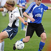 P2PTCA<br /> Peak to Peak's Katie McMenamin steals the ball from CheyAnne Queener of The Classical Academy.<br /> May 24, 1011
