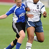 P2PTCA<br /> Peak to Peak's Lea Maxwell battles for the ball against Tionne Webb of The Classical Academy.<br /> May 24, 1011