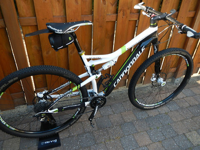 My 2014 Cannondale Scalpel 29 Carbon Team with Pegatin name stickers.