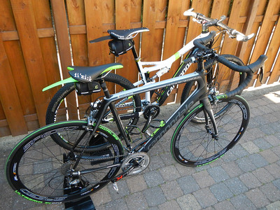 My 2014 Cannondale Scalpel 29 Carbon Team and my 2014 Cannondale Synapse Carbon 3 Ultegra with Pegatin name stickers.
