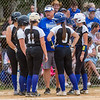 Peniel head coach Jeff Hutchins talks with his team in the second inning of their game against Christ's Church. Fran Ruchalski/Palatka Daily News