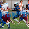 Peniel junior Lucas Chapman (2) carries the ball down the sidelines for a big gain in the first half in the game against Old Plank. Fran Ruchalski/Palatka Daily News