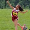 A Pentathlon was held at Lunenburg High School on Monday. Throwing the shot  putt is Fitchburg's junior Aisha Mathieu. SENTINEL & ENTERPRISE/JOHN LOVE