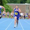 A Pentathlon was held at Lunenburg High School on Monday. Lunenburg's eighth grader Diane Ferguson competes in the 100 yard dash. SENTINEL & ENTERPRISE/JOHN LOVE