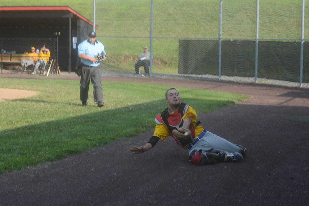 . Ambler plays Collegeville in the Perkioman Valley Twilight League playoffs at Ursinus College.  Thursday, July 31, 2014.  Photo by Adrianna Hoff/Times Herald Staff.