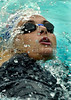 "Argentina's Georgina Bardach swims in the women's 400 meter medley at the Brazilian Championship in Rio de Janeiro, Brazil, May 5, 2004. Bardach, who competes for Brazilian team Unisanta won with a time of 4'40""92 minutes, new South American record. (Austral Foto/Renzo Gostoli)"