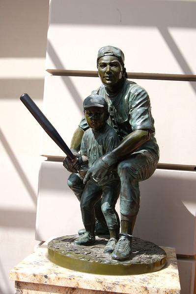 Baseball Statue at Trophys Restaurant