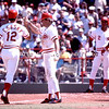 Pete Rose greets Esasky at home plate img106