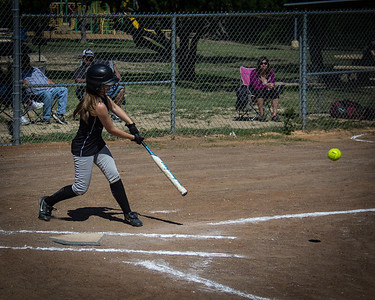Hannah hits in a run in the first inning