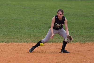 McKenna fields a ground ball at second base