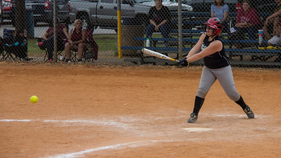Addison smashes a line drive homerun straight back to center field in the first inning