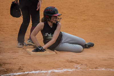 McKenna rests safely at third base