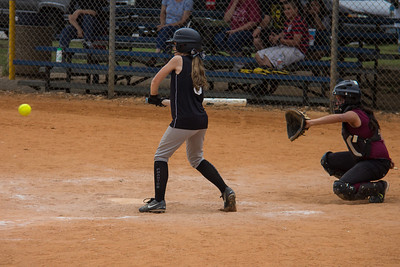 Hannah makes solid contact in the second inning to bring in another Phantom run