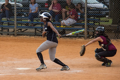 Azia hits a double in the second inning