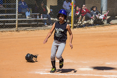Myranda scores in the second inning