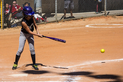 Myranda slaps a double in the second inning