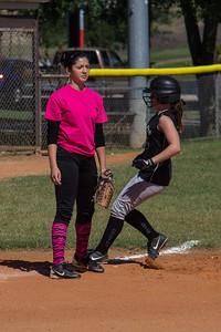 Hannah pulls up into third base