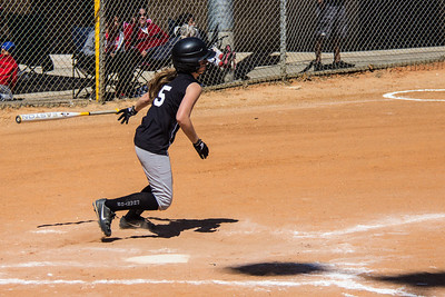 Hannah hits a single in the second inning