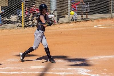 Erika takes her swings