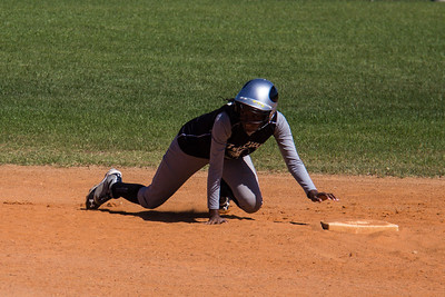Azia crawls back to second base