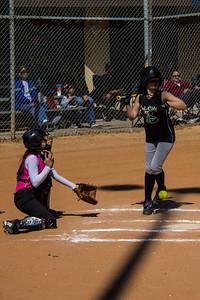Hannah takes a ball
