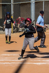 Addison scores in the first inning