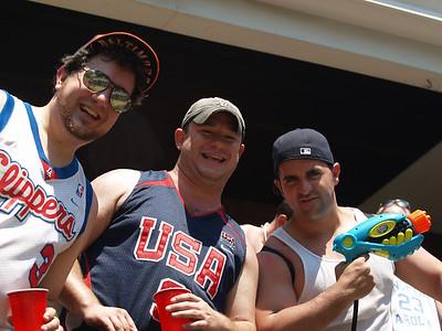 three smiling guys