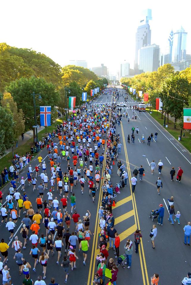 Start of Philadelphia Distance Run - September 2009