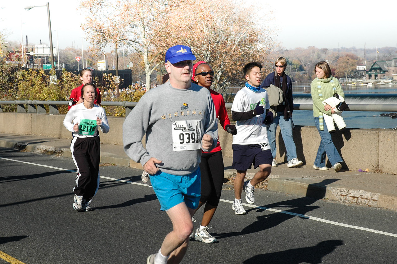 Feeling the pain - Philadelphia Marathon - November 2005