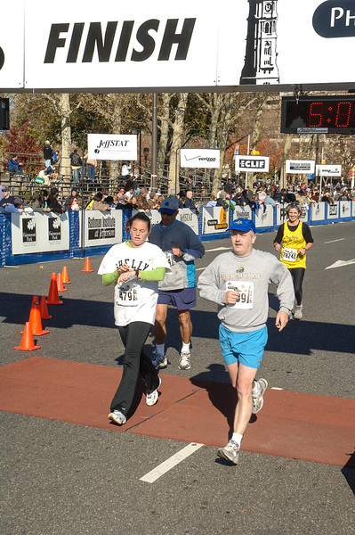 Finish of Philadelphia Marathon - November 2005
