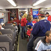 The madness begins on the Septa train from Trenton.