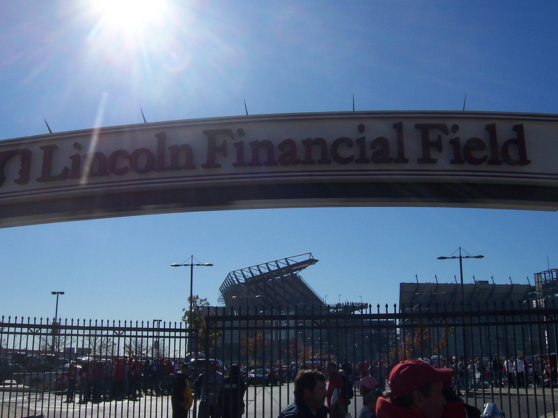 Walking over to the Linc.