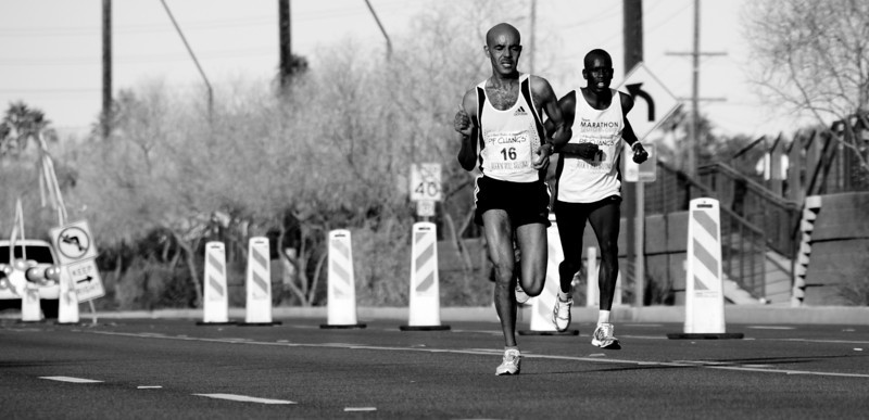 These guys were out to set a world record time.  They missed by under a minute.  (from the Phoenix Marathon)