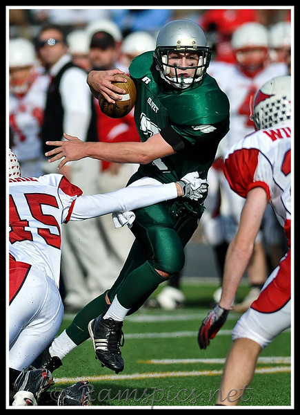 Olivet Eagles win their last playoff game against the Millington Cardinals, on the way to the 2010 MHSAA championship at Ford Field.