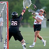 North Andover's Leah Chittick scores past Winchester goalie Hallie Stone during the D1 North Lacrosse Final in North Andover.