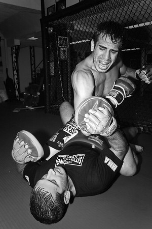 8-20-2007 UFC Fighter Kenny Florian and Trainer Mark DellaGrotte
