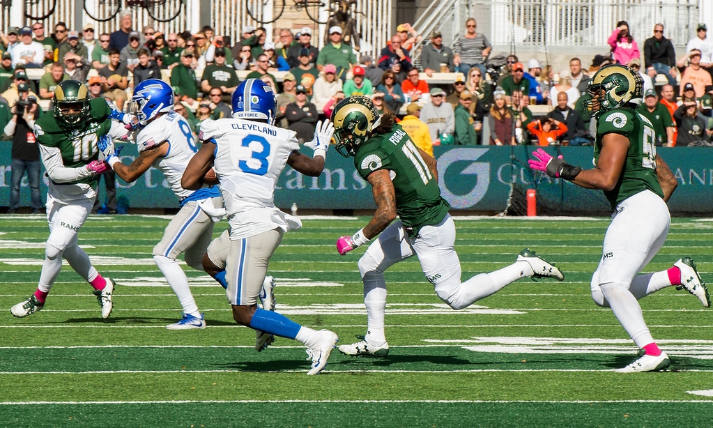 . Colorado State versus Air Force Saturday afternoon Oct., 28, 2017 at the CSU Stadium in Fort Collins. (Michael Brian/For the Reporter-Herald)