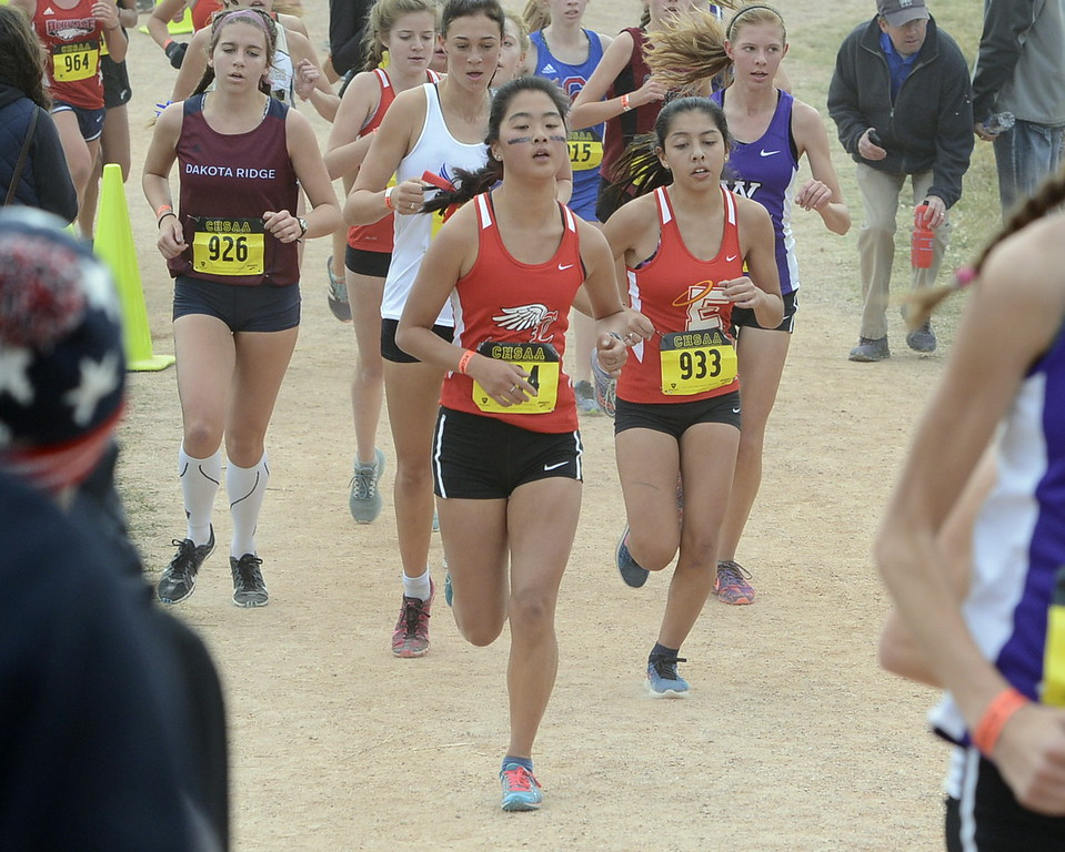. Loveland\'s Callie Ketner competes in the 5A girls state cross country championship on Saturday in Colorado Springs.