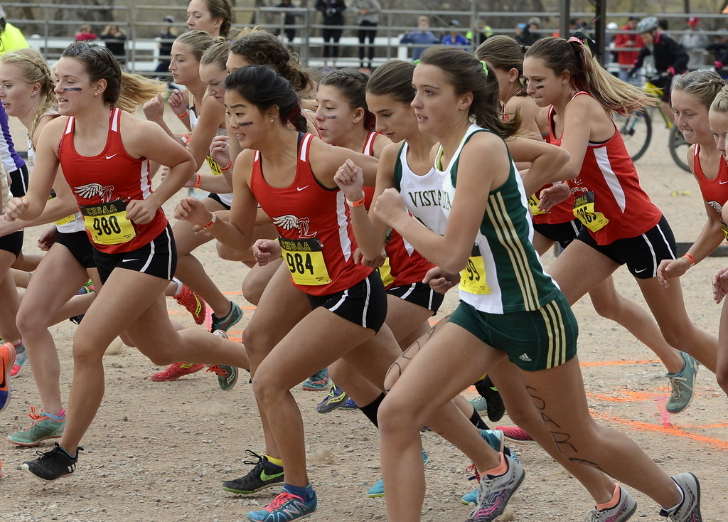 . The Loveland girls cross country team runs the 5A state championship on Saturday in Colorado Springs.