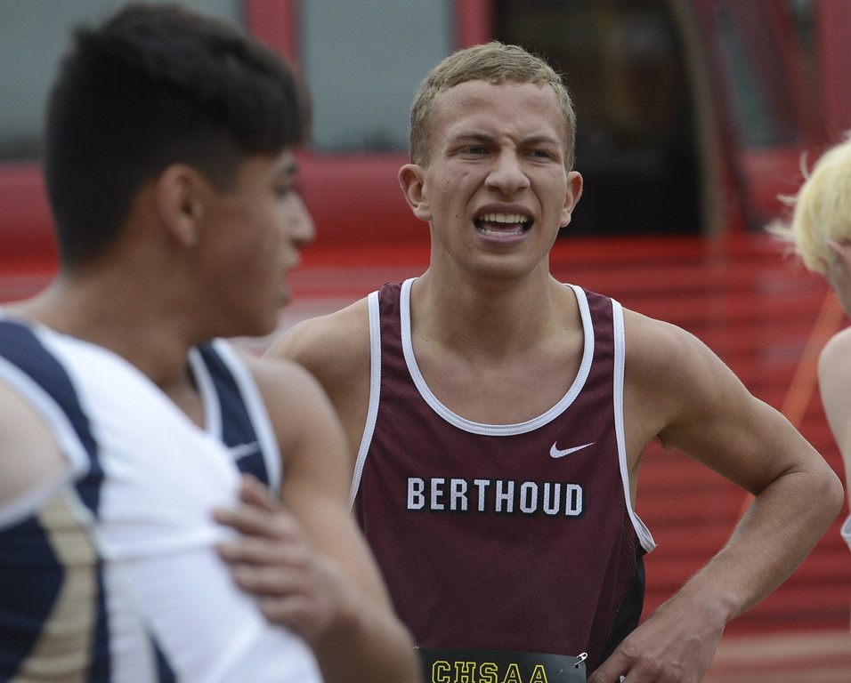 . Noah Burtis finishes the 3A boys state cross country championship on Saturday in Colorado Springs.
