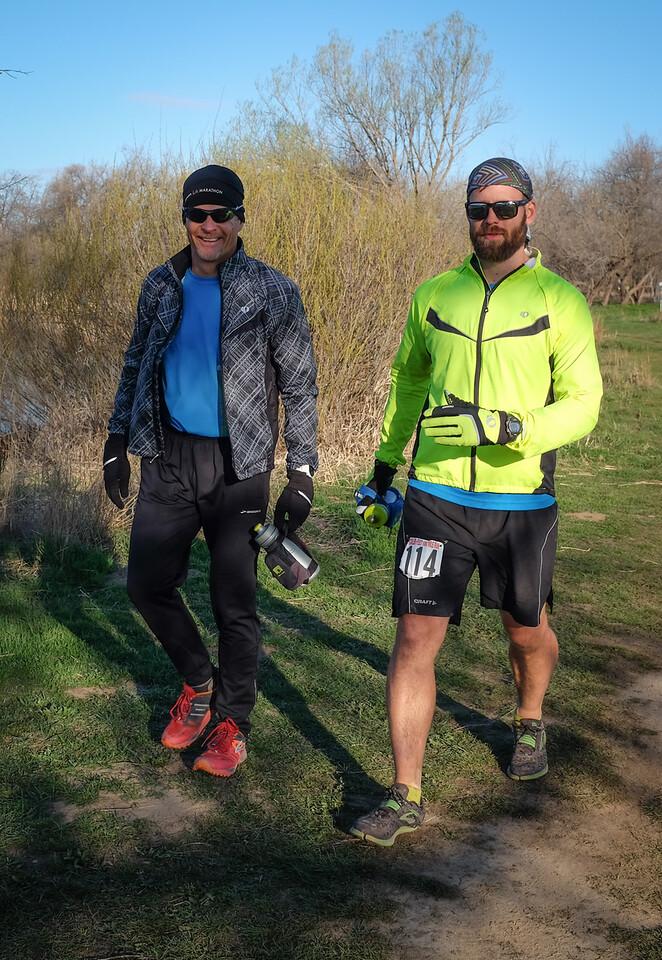 Micah Ness (100 miler) with Mark Wheeler